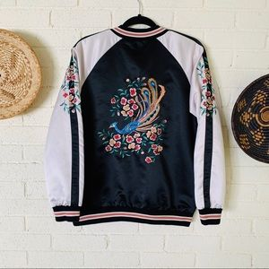 Forever 21 Embroidered Bomber Jacket